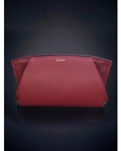 754-CARTIER ESTILO CLUTCH. Elegante cartera en cuero rojo.